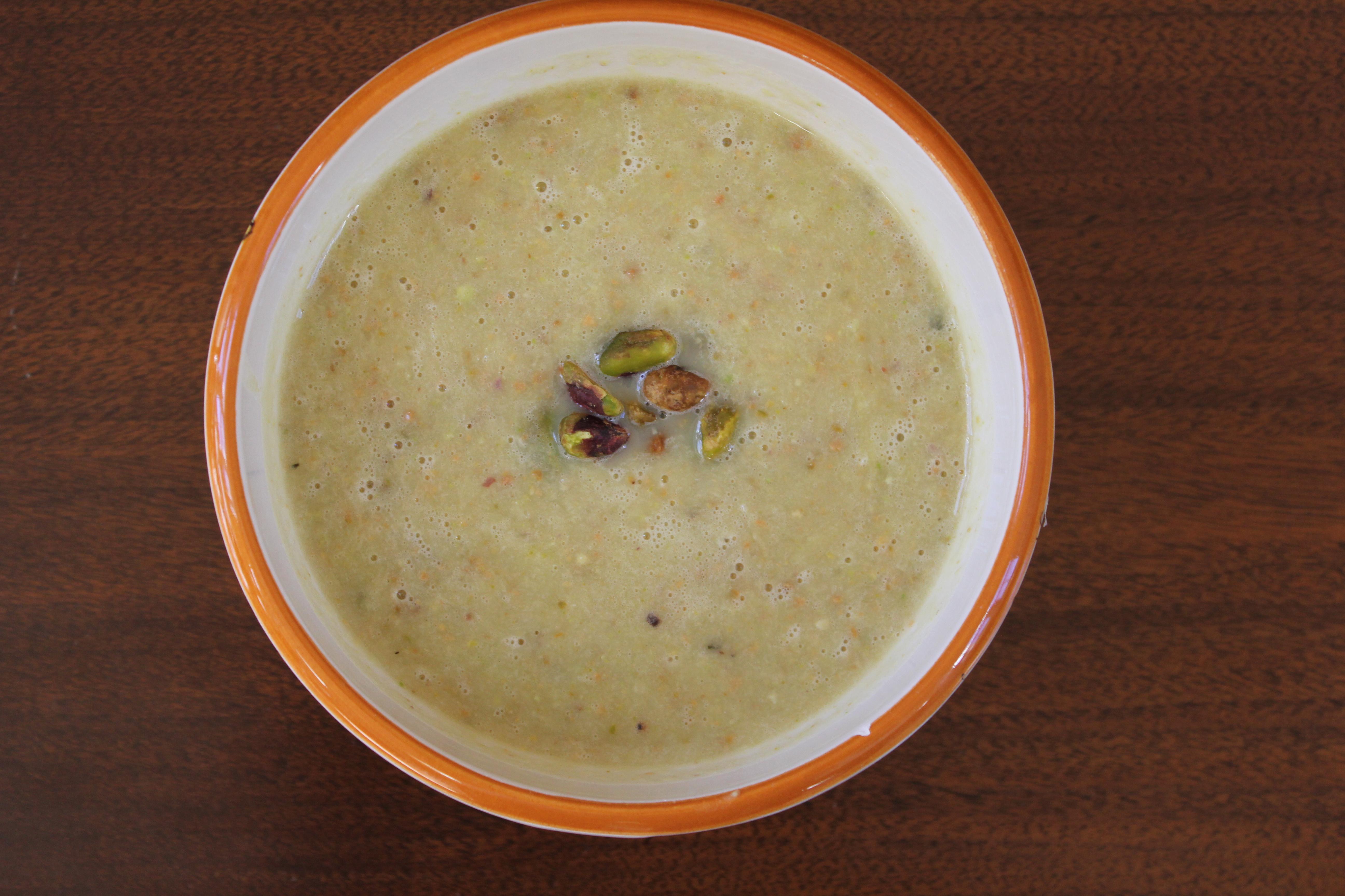 White Asparagus Soup With Pistachios Recipes — Dishmaps